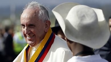 Papa Francesco in Ecuador   foto        è il viaggio più lungo del pontificato