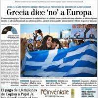Referendum Grecia, vince il 'no': le prime pagine dei giornali nel mondo