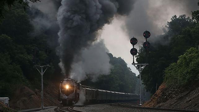Foto. La Virginia a vapore