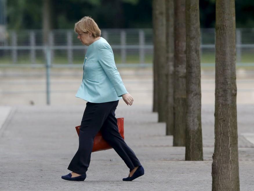 Angela Merkel dopo il 'no' di Atene