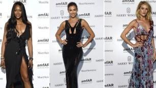 Naomi, Irina, Rosie e Kendall il dream team della moda     E le divine sfilano per  Versace