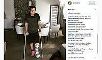 McIlroy, calcio indigesto  Si rompe la caviglia