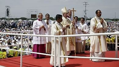 Papa, secondo giorno in Ecuador   foto       Un milione alla messa a Guayaquil