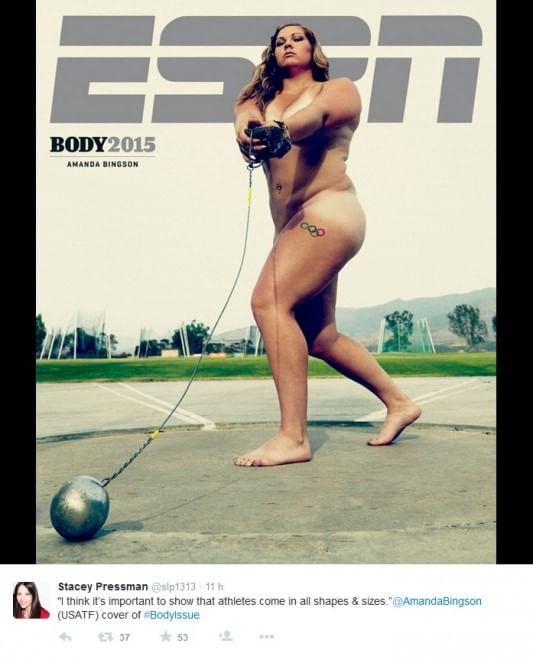 """""""The Body"""": il magazine americano Espn spoglia gli atleti"""