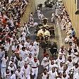 Spagna, tra le polemiche  iniziata a Pamplona  la corsa di San Firmino Nel primo giorno tre feriti