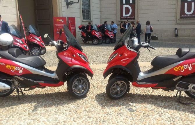 Milano, vola lo scooter sharing di Enjoy