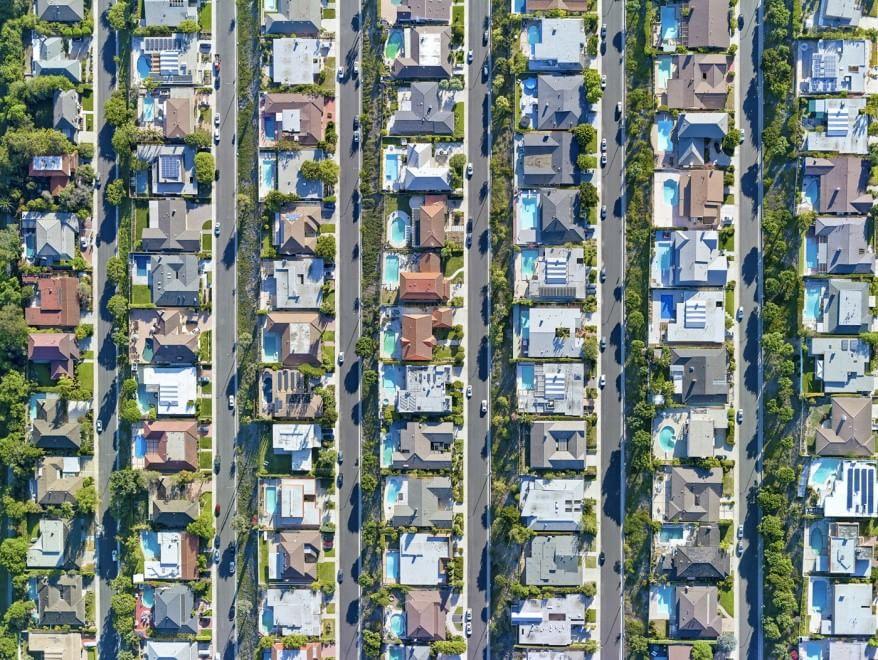 Da los angeles a new york la geometria delle megalopoli for New york dall alto