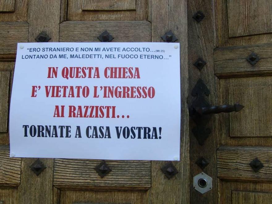 Spoleto, ingresso in chiesa vietato ai razzisti: la provocazione di don Formenton 130154709-f6aff1f7-d61b-4fb4-ad89-d26374443135
