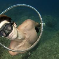Le bolle diventano cerchi: l'allenamento magico del campione d'apnea