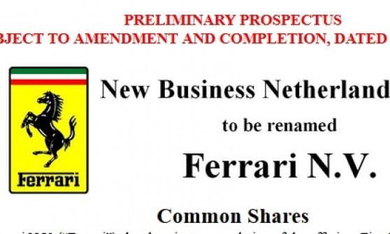 b3fee16655 Ferrari avvia la quotazione negli Usa: depositati i documenti alla Sec