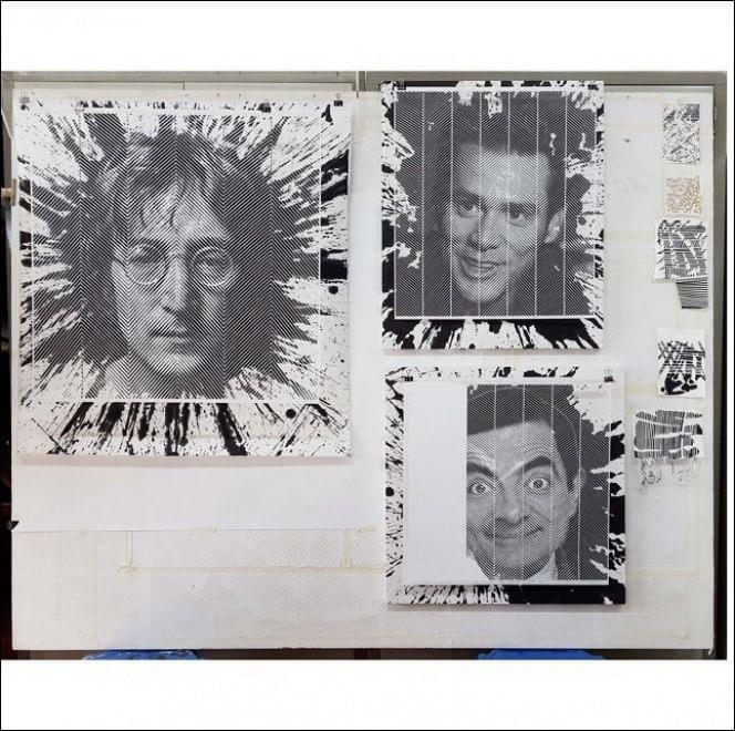 I vip intagliati nella carta, i ritratti sono tridimensionali