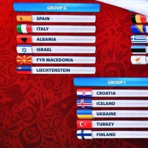 Qualificazioni Mondiali 2018, l'Italia pesca la Spagna