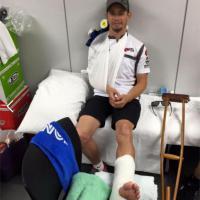 """Moto, Stoner ironizza dopo l'incidente: """"Un ritorno spettacolare"""""""
