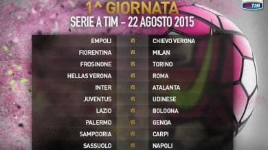 Serie A, alla 2ª è già Roma-Juve   Vd  Cerimonia    Vd  Ecco l'inno