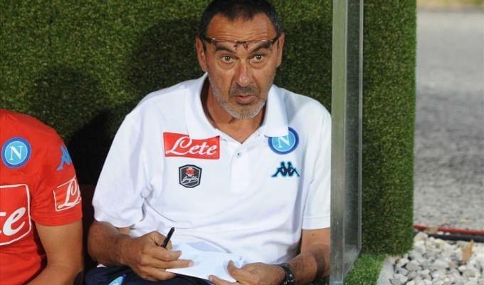 """Napoli, Sarri: """"Spirito giusto, colpito da Higuain"""". Chiriches in ritiro"""