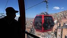 La teleferica a La Paz nove linee, 30 km    foto    Un metrò dei cieli