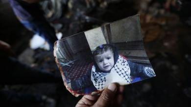 Netanyahu condanna l'attacco di Nablus bimbo palestinese morto in un rogo   Foto