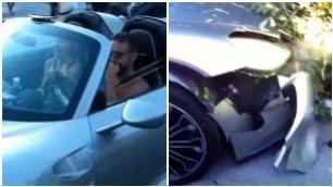 Accelerazione fatale in hotel Saluta e distrugge la Porsche