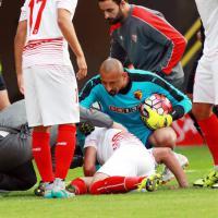 Spagna: Immobile, botta alla testa in uno scontro. L'attaccante portato in ospedale