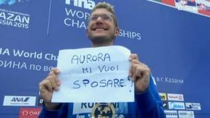"""Ruffini, la proposta ''d'oro'' """"Aurora mi vuoi sposare?"""""""
