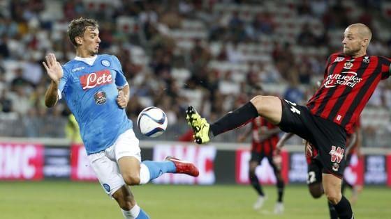 Nizza-Napoli 3-2: dopo la follia ultrà non bastano i gol di Callejon e Mertens