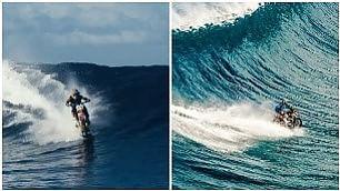 Questa sì che è una moto d'acqua a tutto gas sulle onde in Polinesia