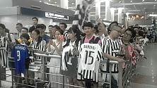 Bianconeri a Shanghai Accoglienza trionfale Khedira, due mesi di stop