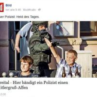 Germania, il poliziotto impedisce il saluto nazista a un simpatizzante