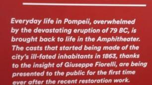 Pompei, che gaffe sui cartelli la data dell'eruzione è sbagliata