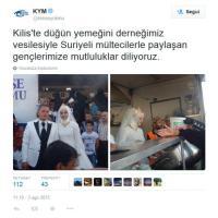 Turchia: si sposano e invitano 4mila profughi siriani al banchetto