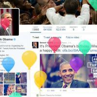 Palloncini per Barack Obama: il regalo di Twitter per il compleanno del @POTUS