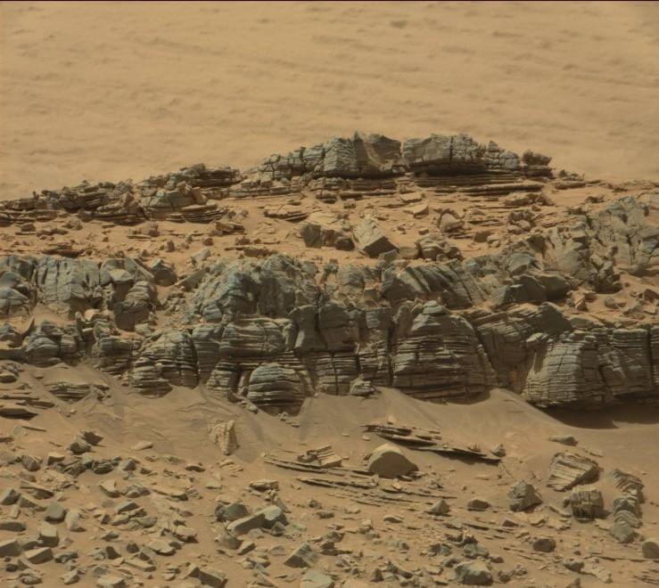 Marte, Curiosity: quella roccia sembra un granchio