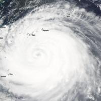 Tifone su Taiwan, le immagini dal satellite