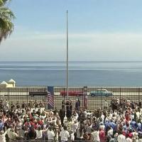 Cuba, tre Chevrolet anni 50 accolgono John Kerry all'ambasciata Usa