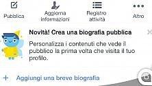 """Facebook, ecco l'opzione """"crea biografia pubblica"""""""