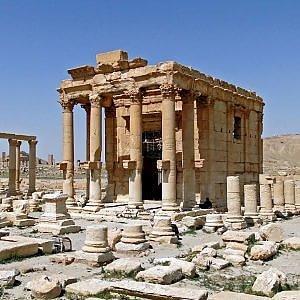 Palmira, Is distrugge il tempio di Baal Shamin