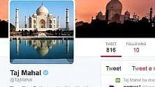 Un'icona che cinguetta Taj Mahal, il primo con un profilo twitter