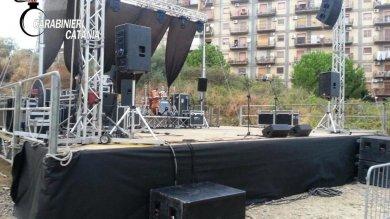 Catania, stop festa del boss ai domiciliari in piazza stavano allestendo un palco