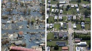 Katrina, 10 anni dopo l'uragano  Fotoconfronto  -    Il video  Nasa    Vd  Bush balla per l'anniversario