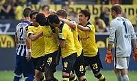 Il Dortmund vince ancora  è a punteggio pieno con il Bayern