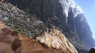 L'aquila verso il Monte Bianco Volo in soggettiva straordinario