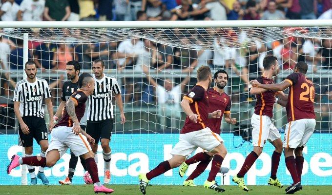 Fa festa la Roma   foto    la Juve resta a quota 0