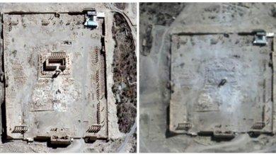 Siria, foto satellitari confermano -   foto   distruzione Tempio di Bel a Palmira   video