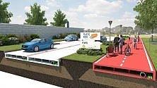 Ecosostenibile, bella e leggera: è la strada costruita con la plastica