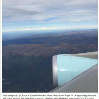 """""""Hey sono Barack"""": su Instagram il saluto di Obama in volo sul monte Denali"""