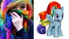 #rainbowhair: la mania social fa tornare bambini