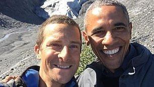 Obama, tanti selfie dall'Alaska    Foto  Barack visita l'Exit Glacier