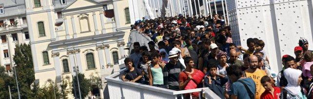 Da Budapest a piedi verso Vienna   foto     Rep tv   Fuga da campo profughi vicino a Serbia   video