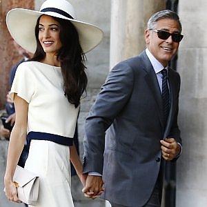 I Clooney a cena con Kofi Annan
