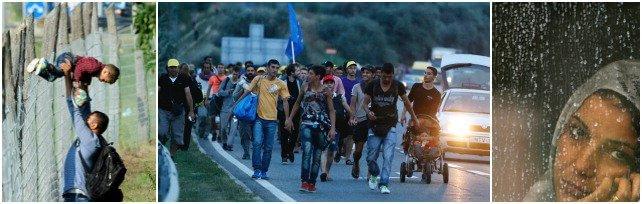 Migranti, Austria e Germania aprono frontiere     Da Budapest a piedi verso Vienna   foto   -   Rep tv